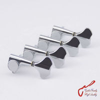 Original Genuine 4 In Line GOTOH GB707 4 Strings Electric Bass Machine Heads Tuners Chrome
