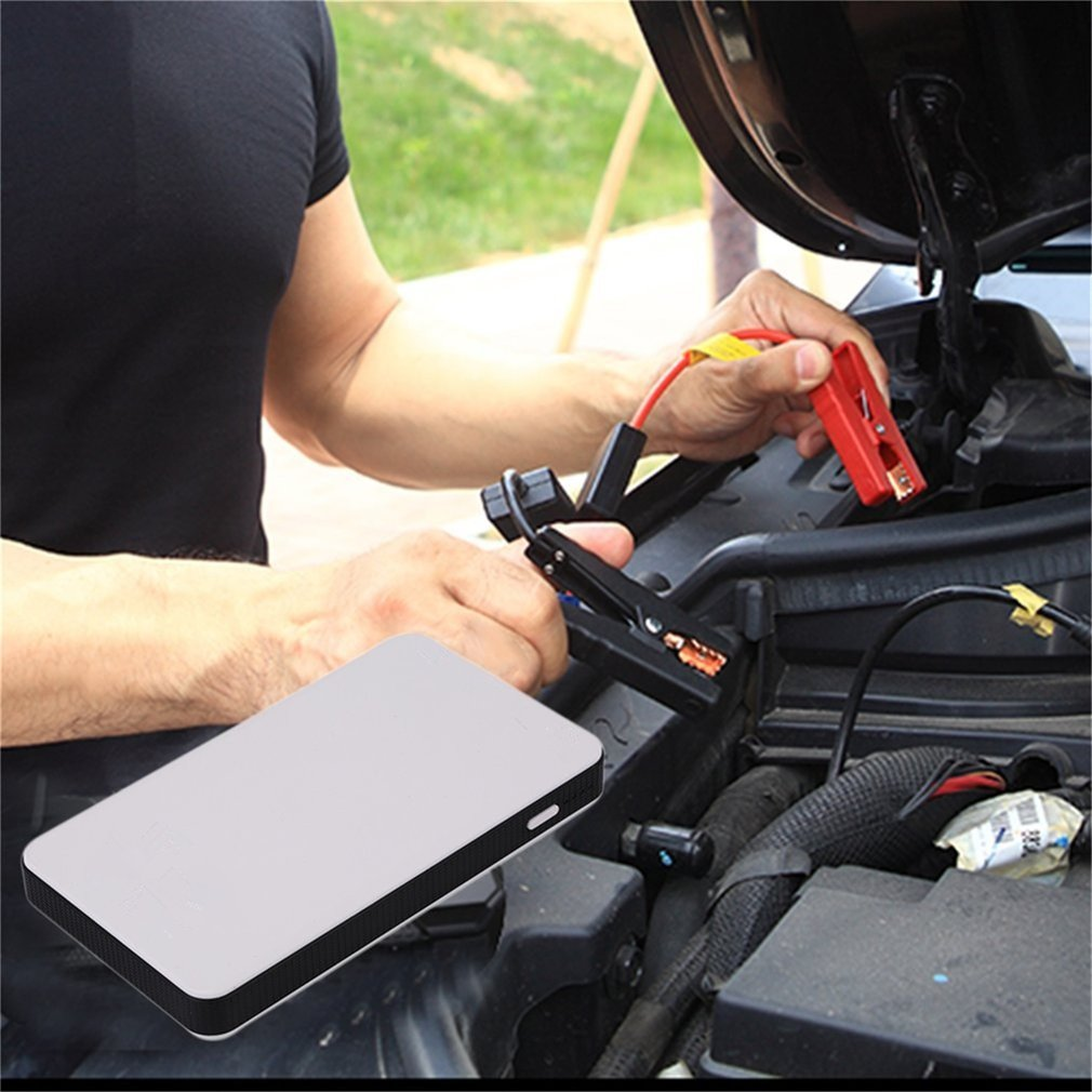 12V 20000mAh Mini Portable Multifunctional Car Jump Starter Power Booster Battery Charger Emergency Start Charger newest 50800mah 12v car emergency start power bank vehicle jump starter booster portable current battery charger three light hot