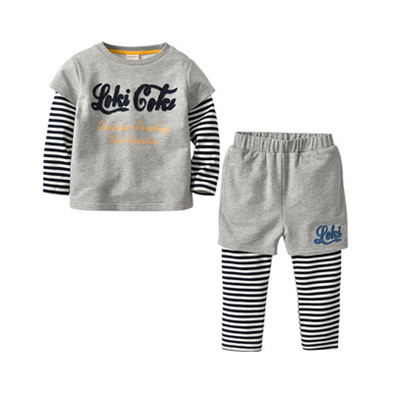 Children Long Sleeve Suit Autumn and Spring Model Cotton Letter Sweater Boys Long-Sleeved Two-Piece SuitChildren Long Sleeve Suit Autumn and Spring Model Cotton Letter Sweater Boys Long-Sleeved Two-Piece Suit