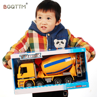 1:50 Car Large Engineering Cement Mixer Truck Model Concrete Car Sound Light Educational Collection Toy Children Birthday Gift