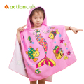 New Baby Blanket Children Beach Towel 120*60cm Kids Hooded Cloak Cartoon Baby Boys Girls Towel Bibulous Towel Serviette De Bain