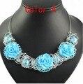 Женская мода колье ожерелье ручной работы провода цветок подвески воротник ожерелье nl-1315
