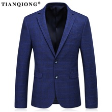 TIAN QIONG Men Wool Blazer Spring Autumn Mens Blazers Casual Suit Jacket Luxury Brand Formal Business Blazer Masculino Size 3XL