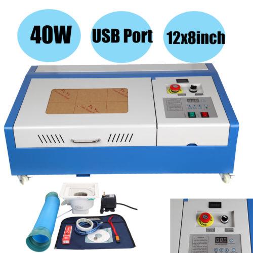 CNC CO2 40W Router Engraving Machine Cutting Machine 300x200mm Laser Engraver