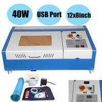 Cnc co2 40 w máquina de gravura do roteador máquina corte 300x200mm gravador a laser