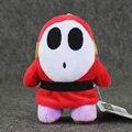 1pcs 14cm Super Mario Plush Shy Guy anime plush stuffed pendant keychain toy doll