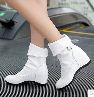 2017 Herbst In Die Neue Weibliche Stiefel In Den Weiblichen Hang Mit Die Stiefel Set Der Weißen Runden Stiefel Martin Stiefel Flut Schuhe In Den Spezifikationen VervollstäNdigen