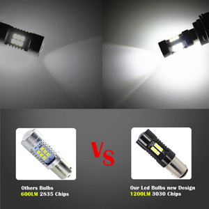 Image 5 - 2Pcs 1156 BA15S P21W LED BAU15S PY21W BAY15D LED Bulb 1157 P21/5W R5W 21pcs 3030SMD Auto Lamp Bulbs Car LED Light 12V   24V
