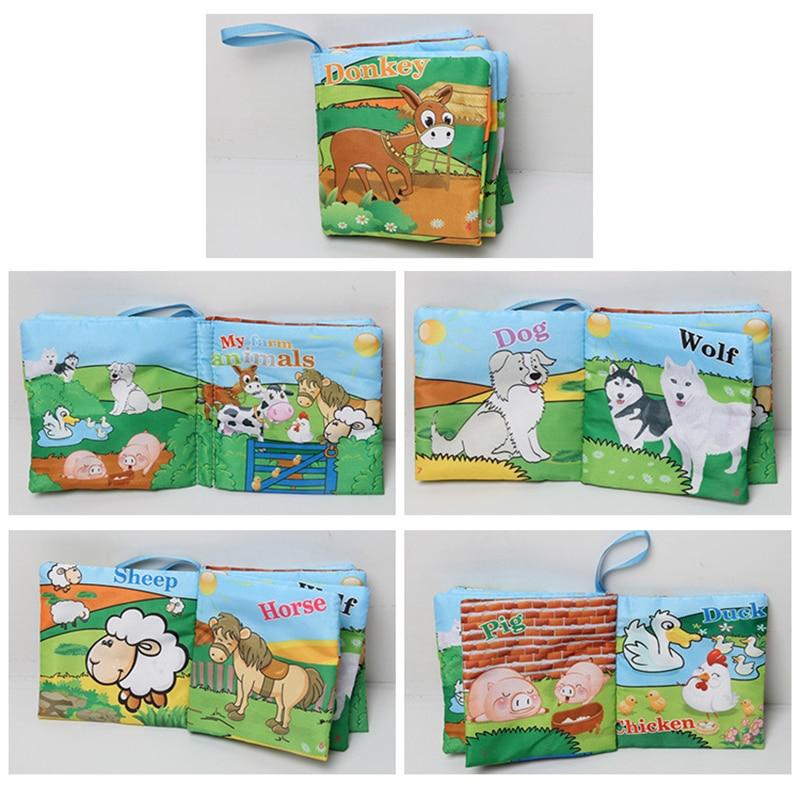 6 հատ Մանկական գրքույկ Փափուկ եղջերու - Խաղալիքներ նորածինների համար - Լուսանկար 4