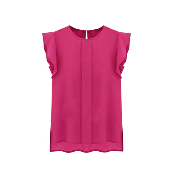 HTB1QW5TSVXXXXcMXpXXq6xXFXXX2 - New Women Chiffon Clothing Lady Shirt Ruffle Short Sleeve