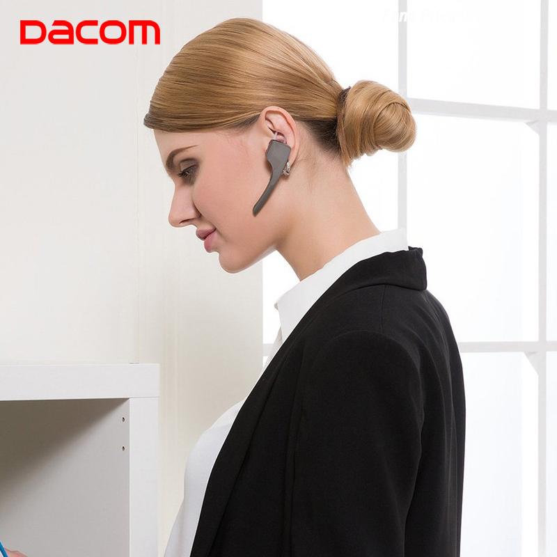 DACOM C-Blue1 Business Wireless Earbuds Cordless Earphone Earpiece Bluetooth Headsets with NFC Handsfree Car Charger for Phone