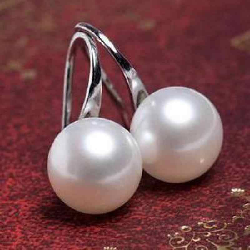 2017 Hot Sale Natural Pearl Earrings For Women Freshwater AA Pearl earring earring Accessories Earrings