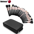 Hotrose Brand Makeup Brushes Professional 29pcs Cosmetic Brush set Quality Makeup Set With Case Nature Bristle Make up Brushes