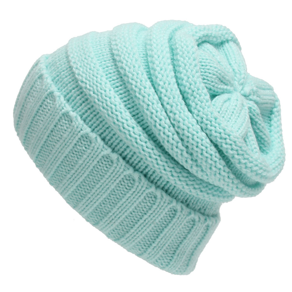 Unisex Chunky Soft Stretch Cable Knit Warm Fuzzy Lined   Skully     Beanie   Women's Thick Soft Knit   Beanie   Cap Hat