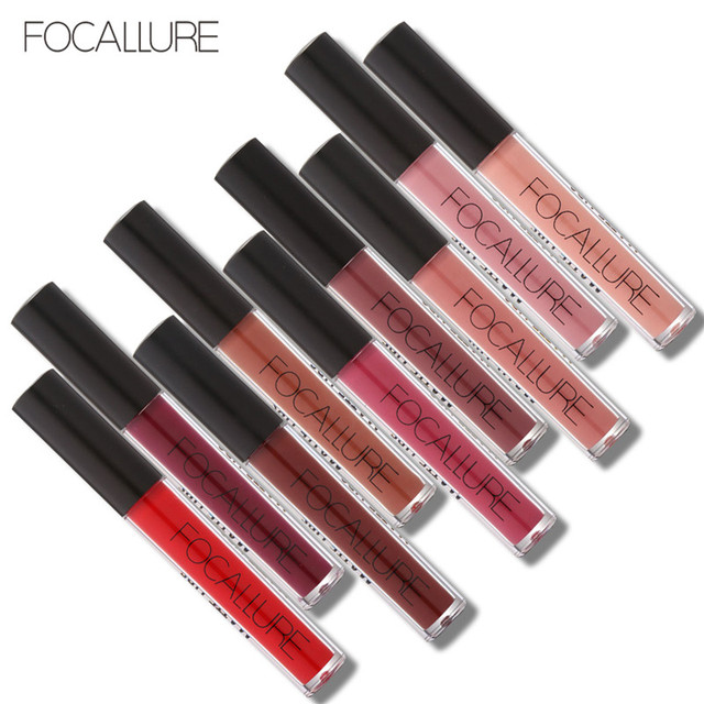 FOCALLURE mate líquido lápiz labial impermeable humectante suave lápiz labial de larga duración tinte cosmético maquillaje de labios