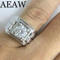 Platin Überzogene Silber 2ct 3ct Runde Cut Moissanite Engagement Ring Jahrestag Ring Moissanite Ring Für Männer