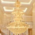 Хрустальные люстры  американский  золотой  хрустальный светильник  светодиодный  Европейский  гостиничный  домашний декор