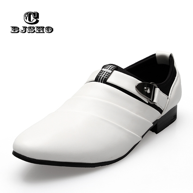 CBJSHO Fashion Oxfords Business Men's Shoes Leather Black White Slip-on Men Loafers Pointed Toe Casual Shoes for Men Flats 1 pcs electric guitar neck maple wood fretboard truss rod 22 fret tiger stripes maple neck xylophone