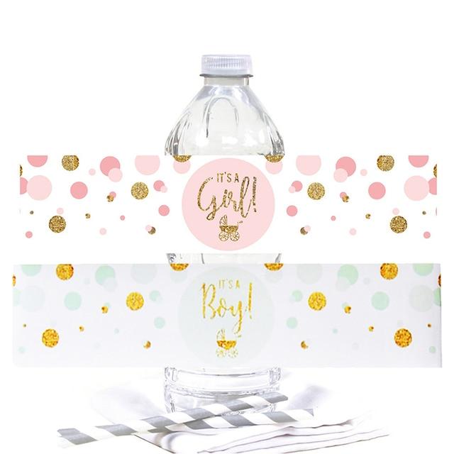 Étiquettes autocollantes pour bouteille deau, décor pour bébé, cest un garçon/fille, étiquette révélatrice du genre, baptême, fournitures pour fête prénatale, 12 pièces