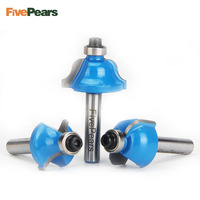 FivePears 12pcs 1 4 Inch Router Bits Set Professional Shank Tungsten Carbide Router Bit Cutter Set