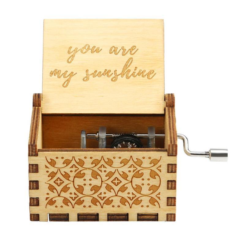 Caja de música de madera antigua de tipo manual caja Musical de manillar para el hogar adorno Retro Decoración regalo de madera Color cumpleaños regalo Lámpara de pared de cabecera antigua de estilo americano luces de sala de estar de una sola cabeza lámparas de bar de moda vintage