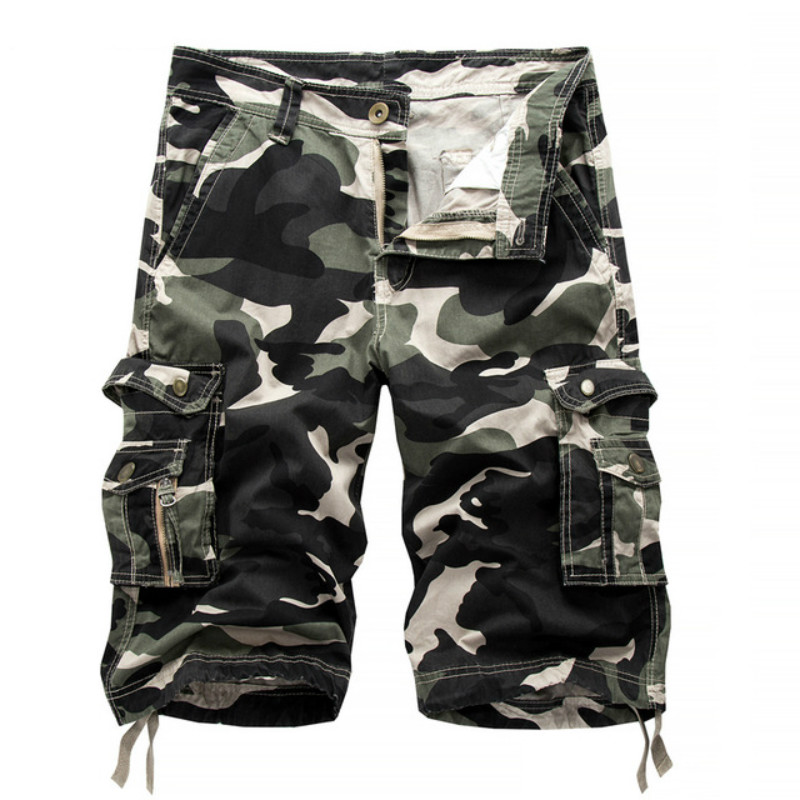 Trendyol Man Bermuda Cargo Shorts Men Modis Camouflage Military Men Short Homme Sweatpants Hip Hop Men Shorts Casual Cargo Cloth