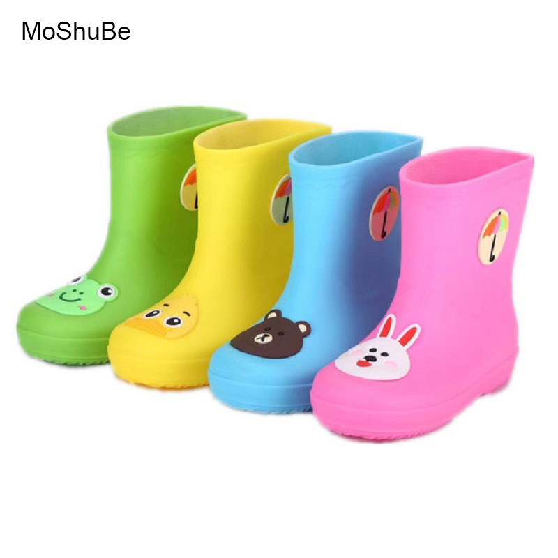 Childrens Shoes Rain Boots All Season Baby Boys Girls Snow Boots Shoes Fashion Cartoon Animals For Baby Shoes Kid Rubber Boots ...