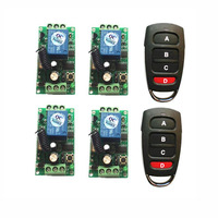 Wireless Remote Control Switch 315mhz 433 MHz DC 9V 12V 24V Module + 4 CH Button RF Remote Control For Light and Door