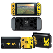NS Game Lets go Eevee pkchu Skin Protector Sticker for Nintendo Switch Console+Controller+Stand Holder Protective Film skin