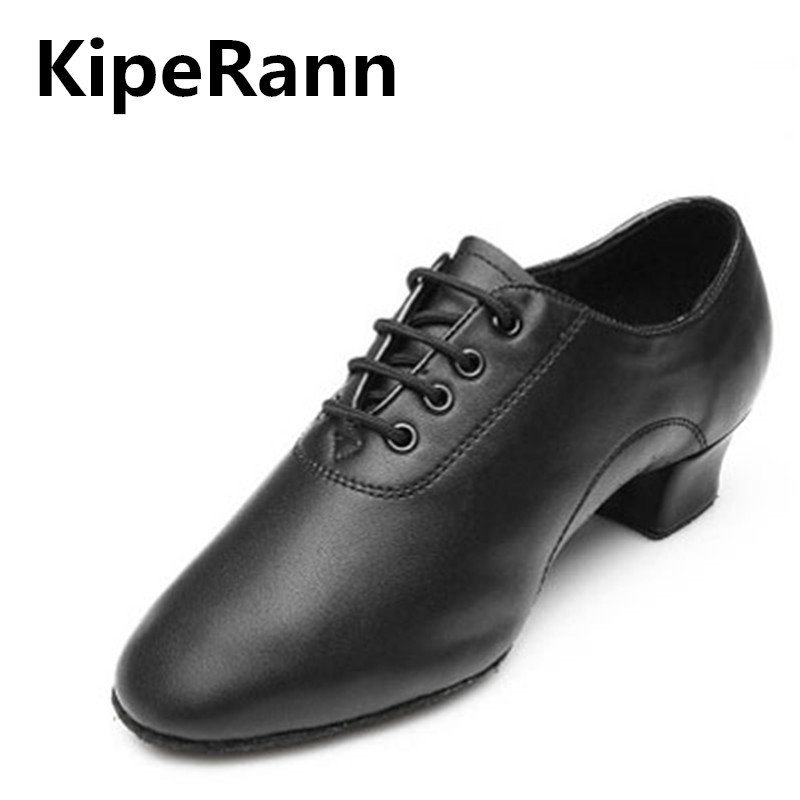 KipeRann New Brand New Modern Men's Ballroom Dance Tango Latin Dance Shoes Men's Dance Shoes Men's Dress Shoes