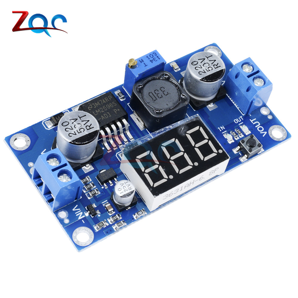 LM2596 LM2596S LED Digital Display Voltmeter DC-DC Step Down Adjustable Buck Power Supply Converter Module for Arduino Diy Kit