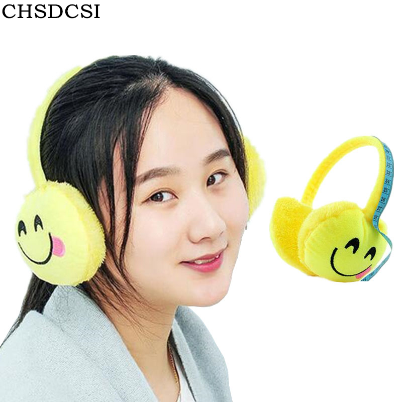 CHSDCSI 2017 New Christmas Cartoon Unisex Expression Winter Warmer Men Earmuff Plush Cloth Novelty Ear Muffs Women Accessories