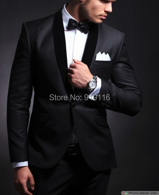2017 Formal Wear Tuxedos Velvet Elegant Groom's Wear Smoking ...