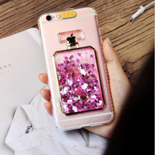 Einfho For iPhone 5 5S SE 6 6S 7 8 Plus Cover Case Clear Perfume Glitter TPU Silicone Case for Coque iPhone 5 6 7 8 Plus Funda perfume bottle style rhinestone inlaid back case w strap for iphone 5 5s white golden