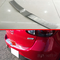 For Mazda 2 Demio Rear Outer Bumper Guard Sill Plate Cover Molding Hatchback 5 Doors 2015 2016 2017