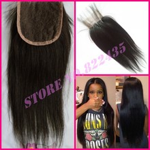 Cheap 6A Straight Peruvians Lace Closure Bleached Knots 4×4 Middle/Free/3 Part ALi MODA Silky Closure MOcha ROsa Hair Product
