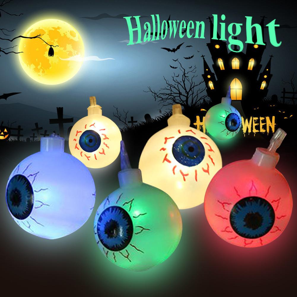 1.2M/2.5M LED Light String Lamps Decorative Light Halloween Ghost Eye Shape Lights For Indoor Outdoor Decor Without Battery