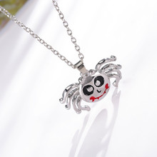 5pcs/lot Girls Women Funny Cute Oil Vampire Spider Pendant Necklace Halloween Party Small Choker Necklace For Vampire Lovers