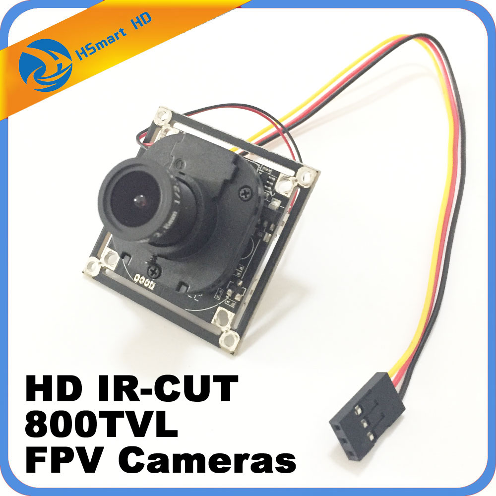 mini camera 800TVL 1/3 inch COMS 150 Degree 1.7mm Lens Mini FPV Camera HD IR-CUT CCD PCB For FPV Camera Drone 2.8-12mm 2.1mm len