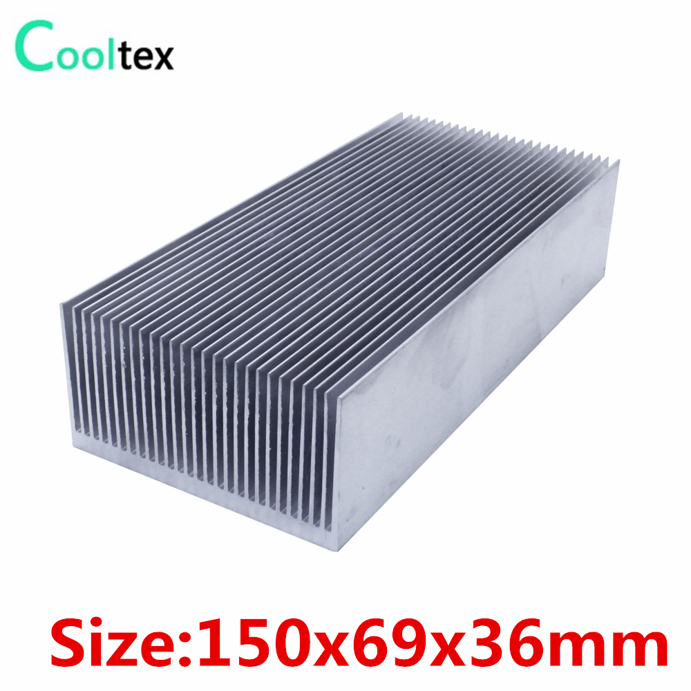 High power 150x69x36mm radiator Aluminum <font><b>heatsink</b></font> Extruded heat sink for 20-<font><b>100W</b></font> LED heat dissipation image
