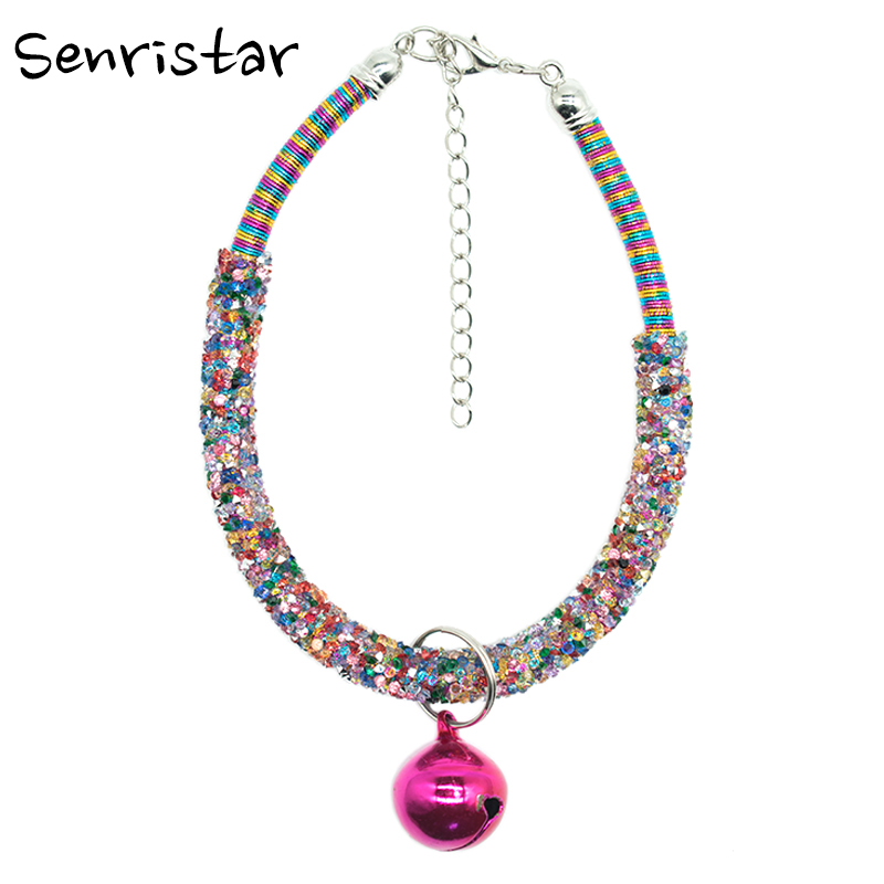 Bling Artificial Resin Rhinestone Fashion Pet Cat Collar For Small Medium Cats Necklace For Adjustable Cute Small Dog Collars