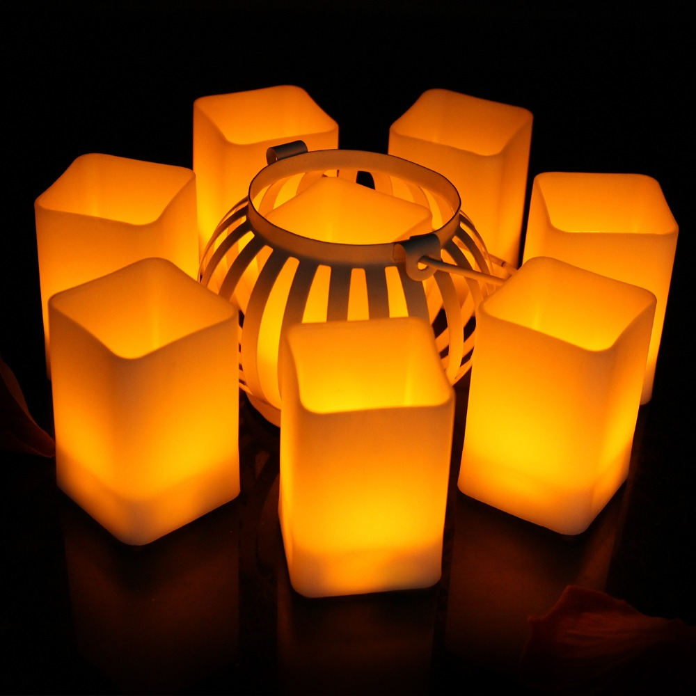 8957924083_1650456754  12pcs Flickering LED Candles Sq. Pillar Faux Candle Electrical Tealight for Residence Decor Wedding ceremony Events HTB1QW8UBWSWBuNjSsrbq6y0mVXaA