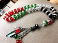 Palestina Bandeira cor do carro-home-office pendurado islam muçulmano tasbih allah pulseira de contas de Oração do rosário misbaha masbaha tesbih