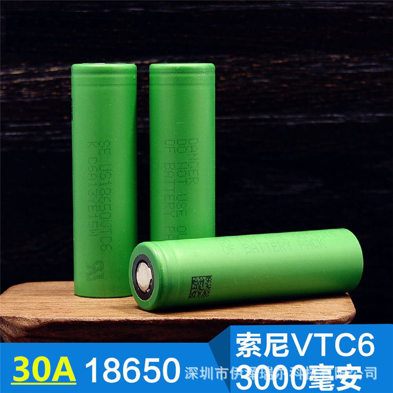 For SONY US <font><b>18650</b></font> <font><b>VTC6</b></font> 30AH Coutinuous discharge 3000mah 3.6V 3.7V Dynamic Lithium Li-ion Rechargeable <font><b>Batteries</b></font> (free charger)