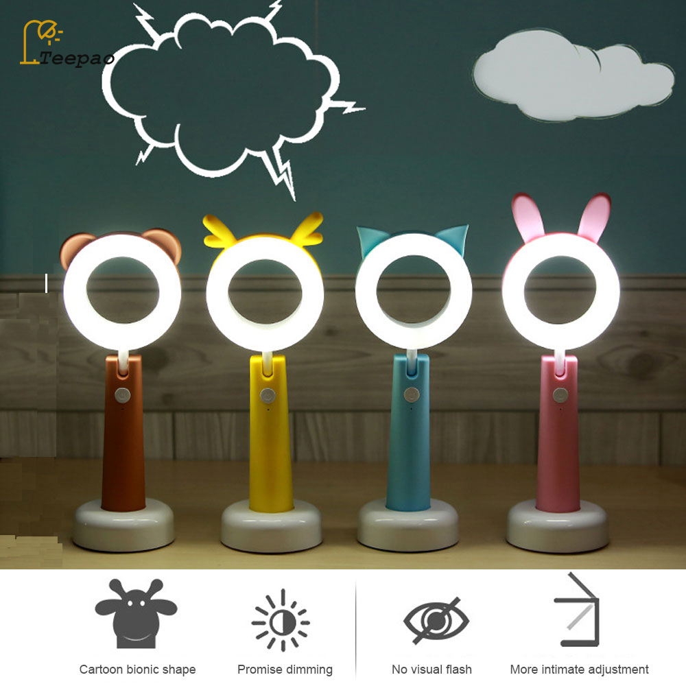Students Mini Reading Desk Lamps Eye protection USB Folding Rechargeable LED Dimmable Table Lamps Adjustable Lamps Night Light white rotating rechargeable led talbe lamp usb micro charging eye protection night light dimmerable bedsides luminaria de mesa