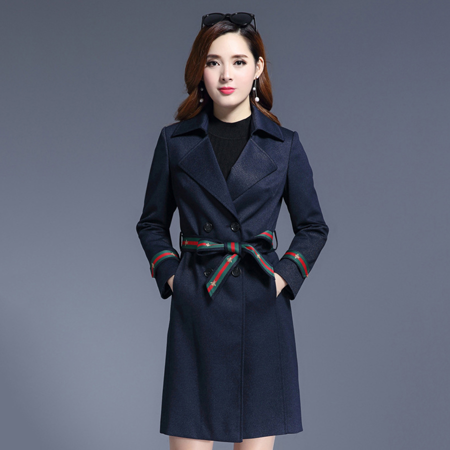 c922beb3f22 Women Long Army Green Korean Trench Coat Casual Bandage Windbreaker Big  Size Coats Uzun Kaban Fashion Chinese Coat P7C1154-in Trench from Women s  Clothing ...