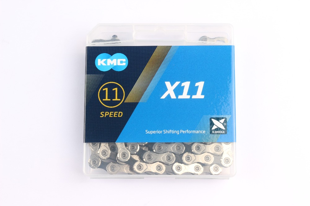 KMC X11.93 X11 chaîne de vélo 116L 11 Vitesse chaîne de vélo Avec la boîte Originale et Bouton Magique pour Montagne/Vélo Tige Vélo pièces