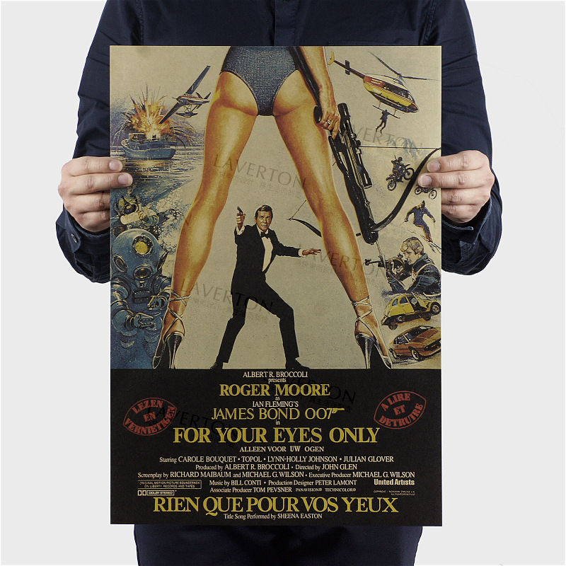 Classic james bond movie poster