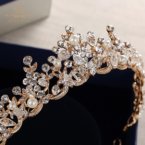 Image 4 - แฟชั่นเจ้าสาวคริสตัล Tiaras Crowns ทอง Headpieces Rhinestone อุปกรณ์เสริมผมงานแต่งงาน Evening เครื่องประดับผม