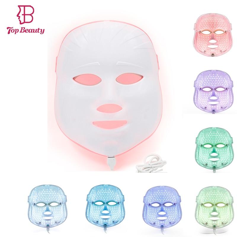 Светодиодный фотон света терапия маска морщин угорь Уход за кожей лица терапии омоложения кожи spa кожи Красота фотонных маска для лица